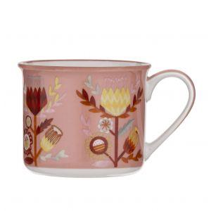 Australiana Banksia Mug Pink/Multi 9x9x9.5cm/475ml
