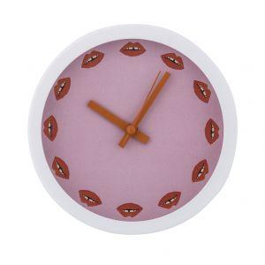 Bouffants & Broken Hearts Luscious Lips Mantle Clock Luscious Lips 15x15cm