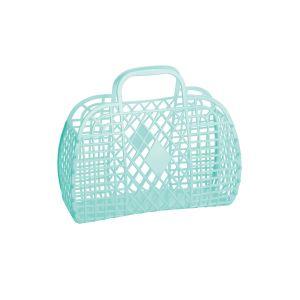 Sun Jellies Retro Basket - Small Mint 25x22x11cm