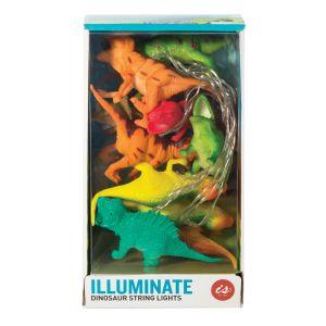 IS GIFT Illuminate String Lights - Dinosaurs  Multicoloured