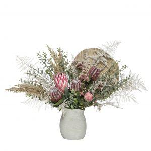Rogue Native Palm Mix-Mahlia Vase Pink/Cream 90x44x54cm