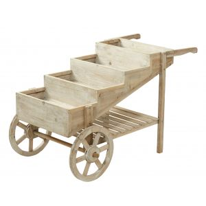 Rogue Small Tiered Flower Cart Natural 110x62x66cm