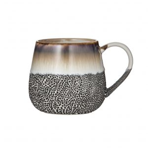 Leaf & Bean Roma Reactive Glaze Mug 9.5x9.5x9.7cm/500ml Coffee/Natural