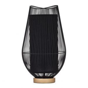 Amalfi Knight Table Lamp Black/Natural 24.5x24.5x42.5cm