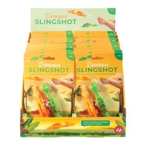 Is Gift Dinosaur Slingshot - Set of 2 (2Asst/18Disp) Assorted 12.5x20.3x3.8cm