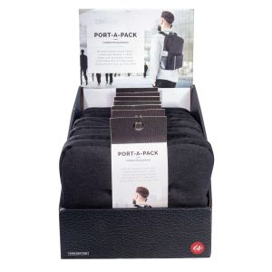 IS GIFT Port-A-Pack Commute - Foldable Backpack  Grey Includes a padded laptop pocket