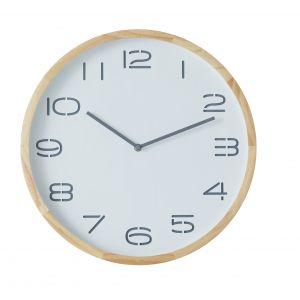 Amalfi Leni Wall Clock Natural/White 41.5x5x41.5cm