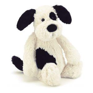 Jellycat Bashful Black & Cream Puppy Small Monochrome 18x9x10cm