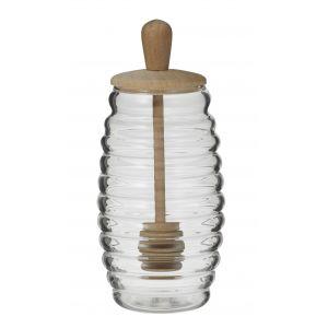 Davis & Waddell Fine Foods Honey Pot & Dipper Clear/Natural 7.5x7.5x13cm