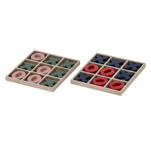 Emporium Noughts & Crosses 2 Asst 6 Pink & Green/6 Blue & Red 15x1.2x15cm