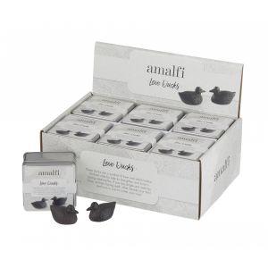 Amalfi Love Ducks Set/2 Rustic Brown 4x7cm