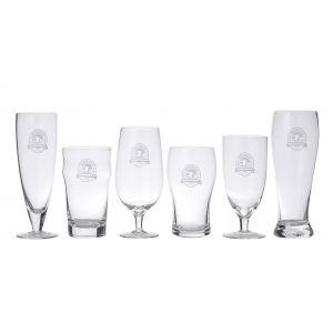 Davis & Waddell Beer Connoisseur Glass Set 6pce Clear Flute/Nonic/Pint/Pokal/Tulip Pint/Chalice/Pilsner