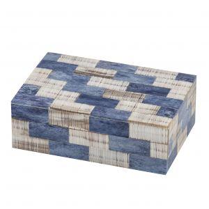 Society Home Salina Deco Box Blue/Grey 15x10x5cm