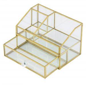Amalfi Hades Jewelry Box Clear/Gold 18.7x13x12cm