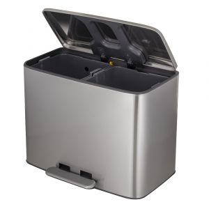 Davis & Waddell Amano Step Recycler Stainless Steel 58.4x35.3x43.8cm/18+18L