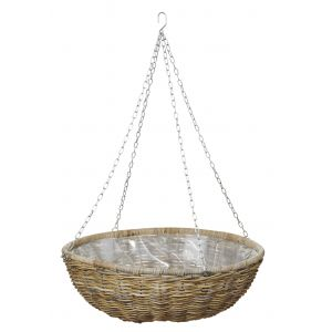 Rogue Rattan Hanging Bowl with Liner Natural 80x80x90cm