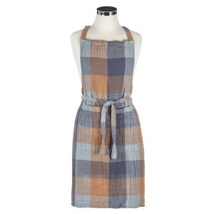 Dylan Gingham Double Cloth Apron CNAPAC001BL