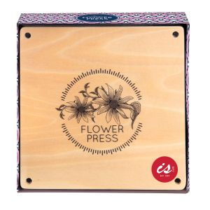 Is Gift Classic Flower Press Wood 5.4x15.8x15.8cm