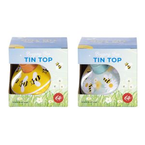Is Gift Tin Top - Bees (2Asst) Assorted 11.4cm Dia