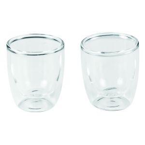 Leaf & Bean Double Wall Espresso Glass Set/2 Clear 6x6x6.5cm/80ml