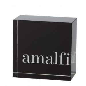 Amalfi Amalfi Logo Block Black 8x8cm