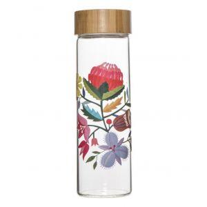 Australiana Flora Water Bottle Clear/Natural/Multi 7.5x7.5x23cm/750ml
