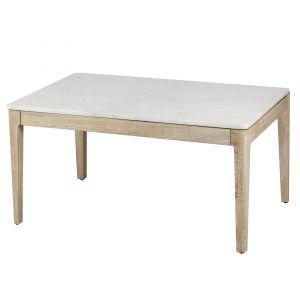 Amalfi Hemley Coffee Table White/Natural 90x60x45cm