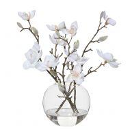 Rogue Magnolia-Sphere Vase White/Glass 30x26x32cm