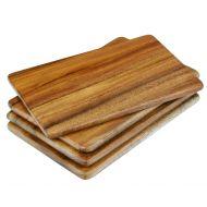 Davis & Waddell Acacia Wood Individual Serving Board Set/4 Natural 21x15x1cm