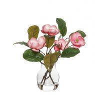Rogue Chinese Magnolia Spray-Adina Vase Dark Pink/Glass 28x25x34cm