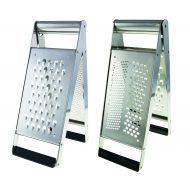 Savannah Premium Stainless Steel Ultimate Tower Grater Stainless Steel Closed 3x9x23.5cm/Open 14.5x9x23.5cm