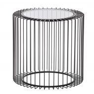 Amalfi Fabien Side Table Smoke/Black 50x50x48cm