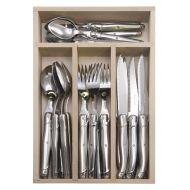 Andre Verdier Debutant Cutlery Set 24pce Stainless Steel 6 Spoons 23.5cm/6 Forks 21.5cm/6 Knives 23.5cm/6 Tsp 16.5cm/GB 32x20x5cm