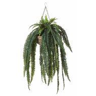 Rogue Boston Fern-Rattan Hanging Bowl Green/Natural 100x100x170cm