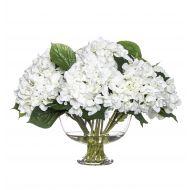 Rogue Hydrangea Mix-Dahlia Bowl White/Glass 53x54x40cm
