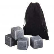 Davis & Waddell Fine Foods Large Whisky Stone Set/4 Grey 4 Stones/4x4x4cm