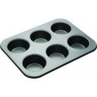 MasterPro N/S 6 Cup American Muffin Pan Black External 35.5x27x4cm/Individual Pan 9x9x4cm