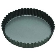 MasterPro N/S Loose Base Round Flan/Quiche Tin Black External 30x30x3.5cm/Internal 28x28x3.5cm
