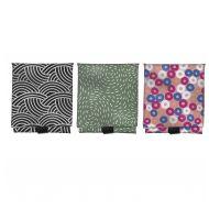 Davis & Waddell Ecopocket Big Lunch Wrap 3 Asst Designs 4 Black/4 Green/4 Pink 32x54x0.2cm