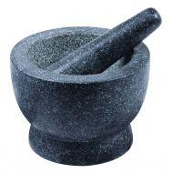 Davis & Waddell Traditional Granite Mortar & Pestle Grey 17x17x12cm