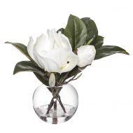 Rogue Magnolia-Sphere Vase White/Glass 40x27x30cm