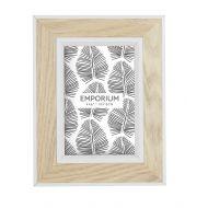 """Emporium Tazmin 4x6"""" Photo Frame Natural/White 17x22cm"""