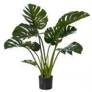 Rogue Monstera Plant-Garden Pot Green/Black 90x90x91cm