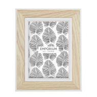 """Emporium Tazmin 5x7"""" Photo Frame Natural/White 20x25cm"""