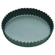 MasterPro N/S Loose Base Round Flan/Quiche Tin Black External 20x20x3.5cm/Internal 18x18x3.5cm