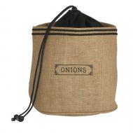 Davis & Waddell Onion Sack Natural/Black 20x20x15cm