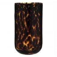 Amalfi Ember Vase Amber/Black 14x14x26cm