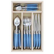 Andre Verdier Debutant Cutlery Set 24pce Stainless Steel/Cornflower 6 Spoons 23.5cm/6 Forks 21.5cm/6 Knives 23.5cm/6 Tsp 16.5cm/GB 32x20x5cm