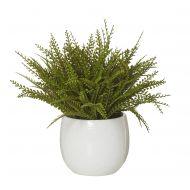 Rogue Baby Jewel Fern-Tub Pot Green/White 45x40x37cm