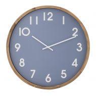Amalfi Leonard Wall Clock Blue/White/Natural 41.5x5.5x41.5cm